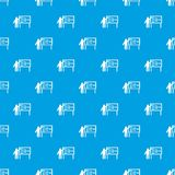 Businessman and presentation screen pattern seamless blue Royalty Free Stock Image