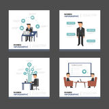Businessman presentation templates Infographic elements flat design set for brochure flyer leaflet marketing. Businessman Infographic elements presentation Royalty Free Stock Photos