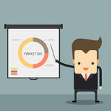 Businessman presentation. With white board vector Royalty Free Stock Photo