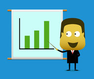 A businessman presented a graph going up Royalty Free Stock Photography