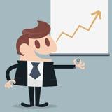 Businessman presented. Infographic cartoon eps 10 Stock Photos