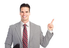 Businessman presenting Royalty Free Stock Photos