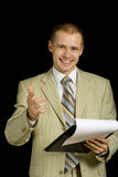 Businessman presenting Stock Photography