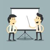Businessman presenting, blank board Stock Image