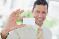 Businessman presenting blank business card Stock Image