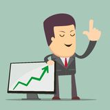 Businessman Presenting Business Growth Chart Royalty Free Stock Photography