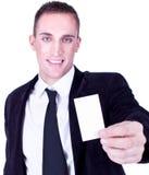 Businessman presenting card Stock Image