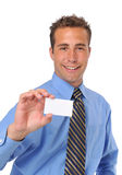 Businessman presenting card Stock Photography
