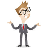 Businessman with presenting gesture Stock Photos