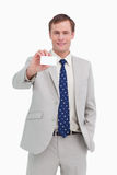Businessman presenting his business card Royalty Free Stock Photo