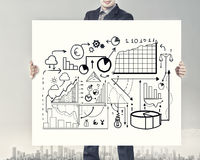 Businessman presenting his ideas Stock Images