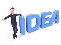 Businessman Presenting Idea Indicates Commerce Concepts And Inventions. Businessman Presenting Idea Representing Innovation Businessmen And Presents Stock Images