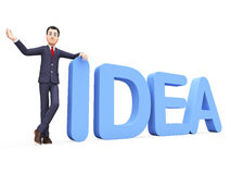 Businessman Presenting Idea Indicates Ideas Corporate And Businessmen Royalty Free Stock Photo