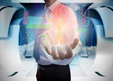 Businessman presenting medical interface Stock Photo