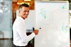 Businessman presenting a new strategy Stock Images
