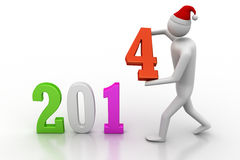 Businessman presenting new year 2014. 3d illustration of businessman presenting new year 2014 stock illustration