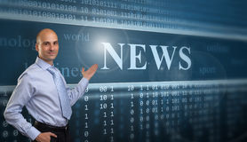 Businessman Presenting The News Stock Photography
