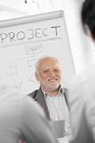 Businessman presenting project Stock Photos