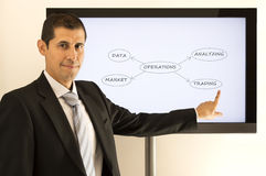 Businessman presenting Royalty Free Stock Photography