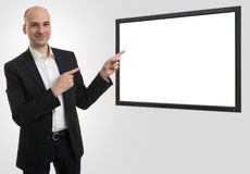 Businessman presenting something Stock Photography