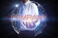Businessman presenting the word company Royalty Free Stock Image