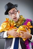 Businessman with presents Royalty Free Stock Image
