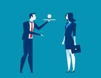 Businessman presents ideas Royalty Free Stock Image