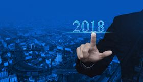 Happy new year 2018 concept Stock Photography