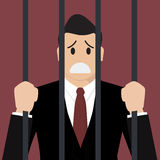 Businessman in prison Stock Photography