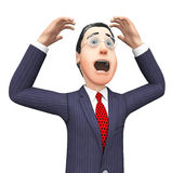 Businessman With Problem Represents Tight Spot And Mess Royalty Free Stock Image