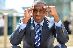 Businessman with problems and stress Stock Photo