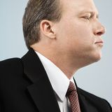 Businessman profile Royalty Free Stock Images