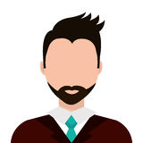 Businessman profile colorful avatar isolated flat design. Stock Photography