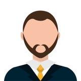 Businessman profile colorful avatar isolated flat design. Stock Image