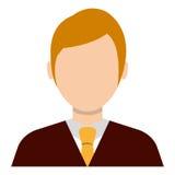 Businessman profile colorful avatar over white background. Stock Photo
