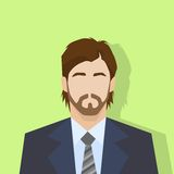 Businessman profile icon male portrait flat Royalty Free Stock Photography