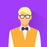 Businessman Profile Icon Nerd wear Glasses Stock Photography