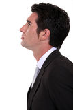 Businessman in profile Royalty Free Stock Photography