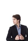 Businessman in profile Stock Image