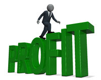 Businessman profit Stock Photography