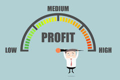 Businessman Profit Meter Royalty Free Stock Photography