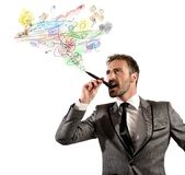 Businessman project Royalty Free Stock Image
