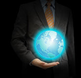 Businessman protect the earth Royalty Free Stock Photos