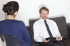 Businessman at psychoanalysis Stock Images