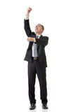 Businessman pull up Stock Images