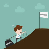 Businessman is pulling a heavy load. Businessman is pulling a heavy load,Vector EPS10 stock illustration