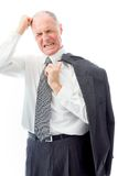 Businessman pulling his hair and screaming in frustration Royalty Free Stock Image