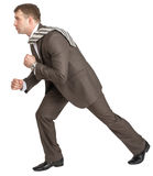 Businessman pulling invisible rope Royalty Free Stock Photo