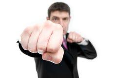 Businessman Punching royalty free stock photos