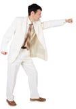 Businessman punching, isolated on white background Stock Photography